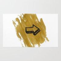 arrow Area & Throw Rugs featuring ARROW by Elvina Sindartha