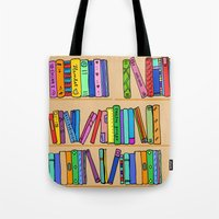 library Tote Bags featuring The library by andy_panda_