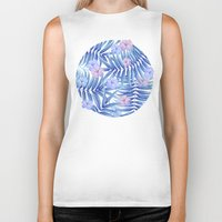 hawaiian Biker Tanks featuring Hawaiian Pattern by Marta Olga Klara