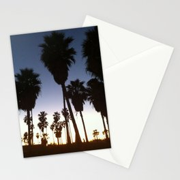 California Palm Trees at Sunset Stationery Cards