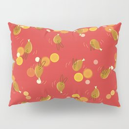 Dancing Drumstick with Rabbit Face No.1 Pillow Sham