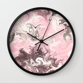 Modern pastel colors abstract watercolor marble Wall Clock