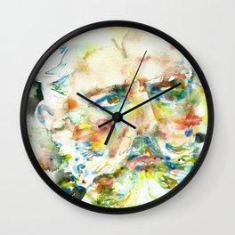PYOTR ILYICH TCHAIKOVSKY - watercolor portrait Wall Clock