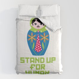 Stand for Human Rights—Male Nesting Doll Comforters
