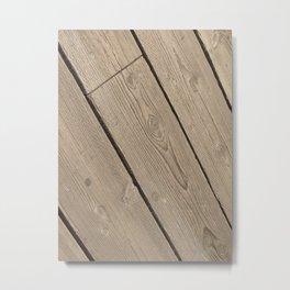 Wood Paneling Metal Print
