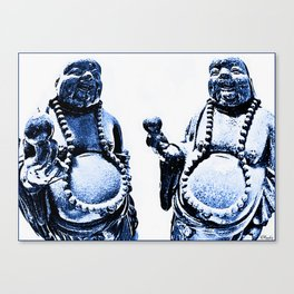 Blue Budhhas Be Chillin' Canvas Print