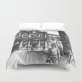 Baroque Church of San Carlo alle Quattro di Fontane in Rome Duvet Cover