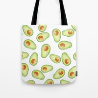 avocado Tote Bags featuring Avocado by Bridget Davidson
