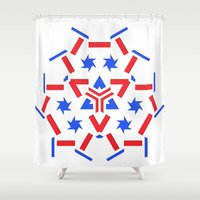 patriotic Shower Curtains featuring Patriotic by Robin Curtiss