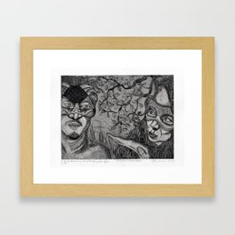 Arlecchino & Colombina by Ines Zgonc Framed Art Print