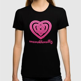 UNCONDITIONALLY in pink T-shirt
