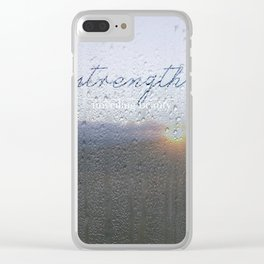 Unveiling Beauty - Strength Clear iPhone Case