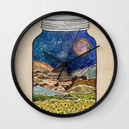 Star Jar Wall Clock