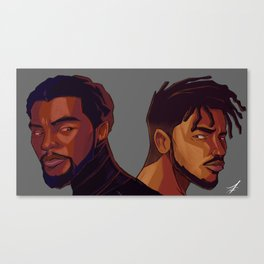Black Panther and Killmonger Canvas Print
