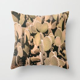 Cactus Maximalism // Vintage Bohemian Desert Photography Home Decor Summer Vibes Throw Pillow