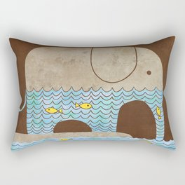 Thirsty Elephant - colour option Rectangular Pillow