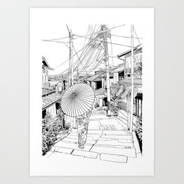 Kyoto - the old city Art Print