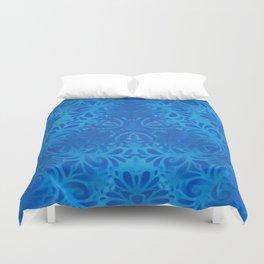 Floral Blue Duvet Cover