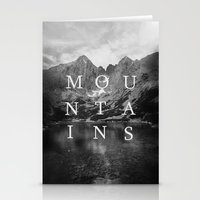 the mountains are calling Stationery Cards featuring The Mountains Are Calling by okalova