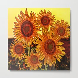 sunflowers family Metal Print