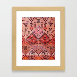 Epic Rustic & Farmhouse Style Original Moroccan Artwork  Framed Art Print