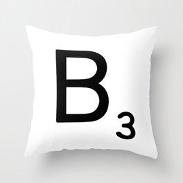 Letter B - Custom Scrabble Letter Wall Art - Scrabble B Throw Pillow