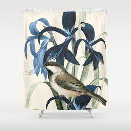 Little Bird and Flowers II Shower Curtain