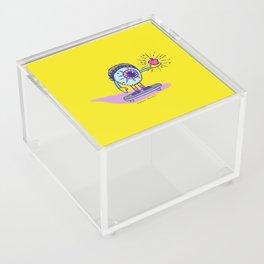 Apple of my Eye Idiom with Yellow Background Acrylic Box