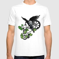 Raven and Ginkgo - Summer Cycle SMALL White Mens Fitted Tee