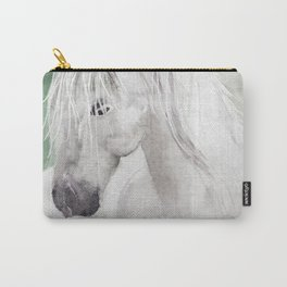 Cathy's white horse Carry-All Pouch