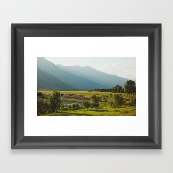 Wading Deer Framed Art Print