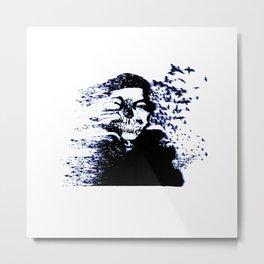 Illustration Sugar Skull Metal Print