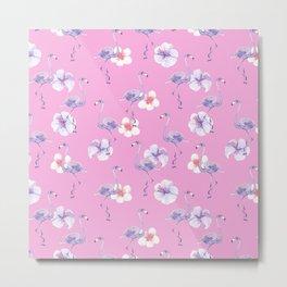 Flamingo Flower Blossom Metal Print
