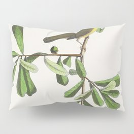 Roscoes Yellow-throat from Birds of America (1827) by John James Audubon etched by William Home Liza Pillow Sham
