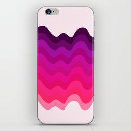 Retro Ripple in Pinks iPhone Skin