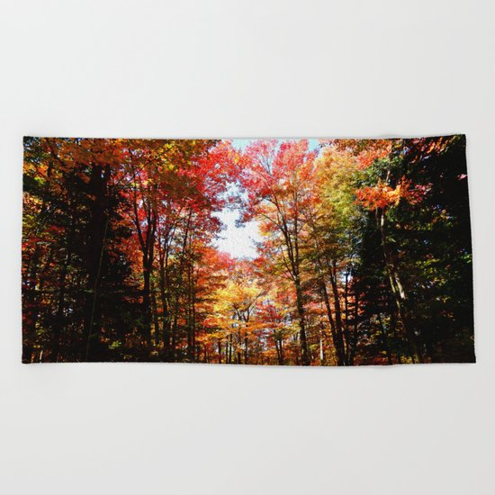 Eastern Quebec in Autumn Beach Towel