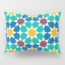 Moroccan pattern, Morocco. Patchwork mosaic with traditional folk geometric ornament Pillow Sham
