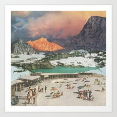 Jade Lake Resort Art Print