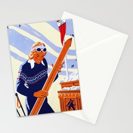 Yosemite Winter Sports Travel Stationery Cards
