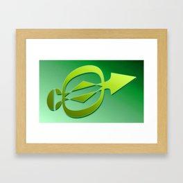 Arrow green Framed Art Print