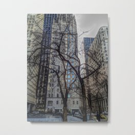 Trees Versus Scrapers Metal Print