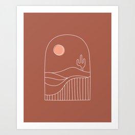 Window Desert Art Print