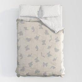 flying butterflies in pastel colors Comforters