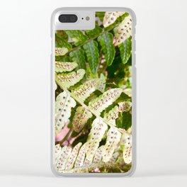 Fern spores Clear iPhone Case