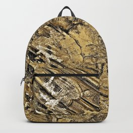 Baby Handprints in Gold and Black Backpack