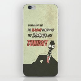 The zombies rise tonight iPhone Skin