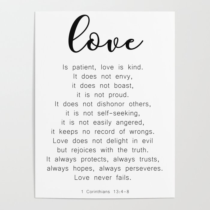 Love Never Fails #minimalism Poster