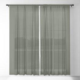 Deep Forest Green Sheer Curtain