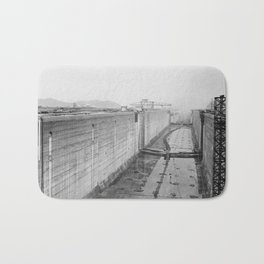 Panama Canal construction Bath Mat