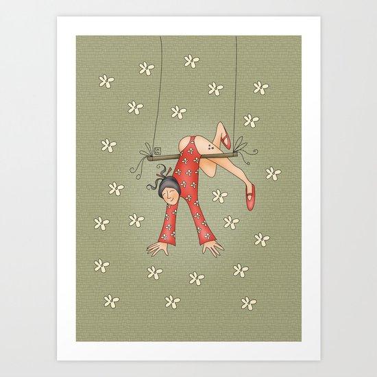 Trapezist Art Print